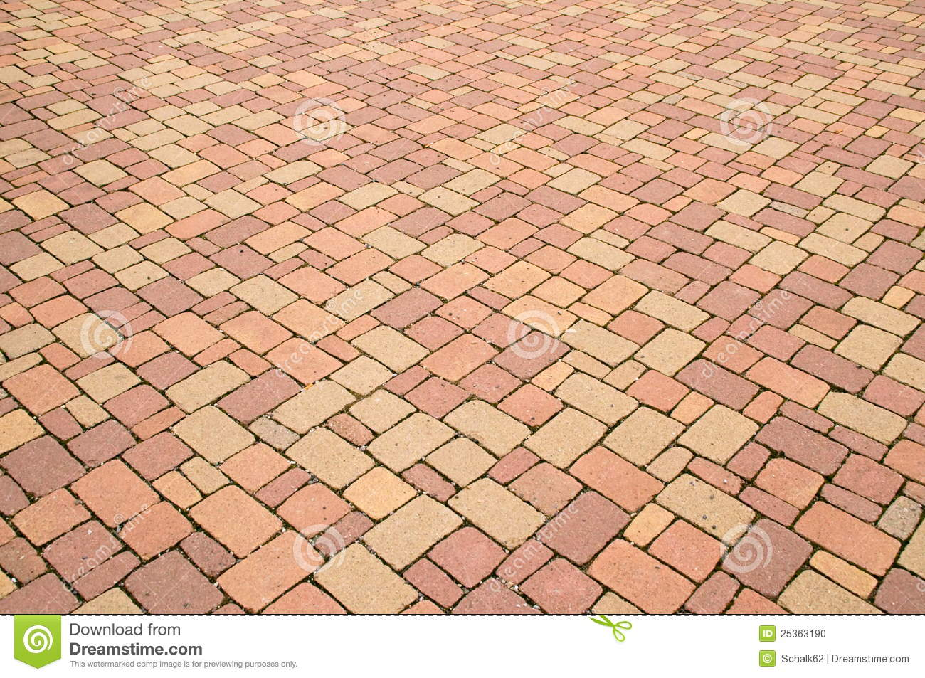Red Paving Stones : Red stone paving stock photo image