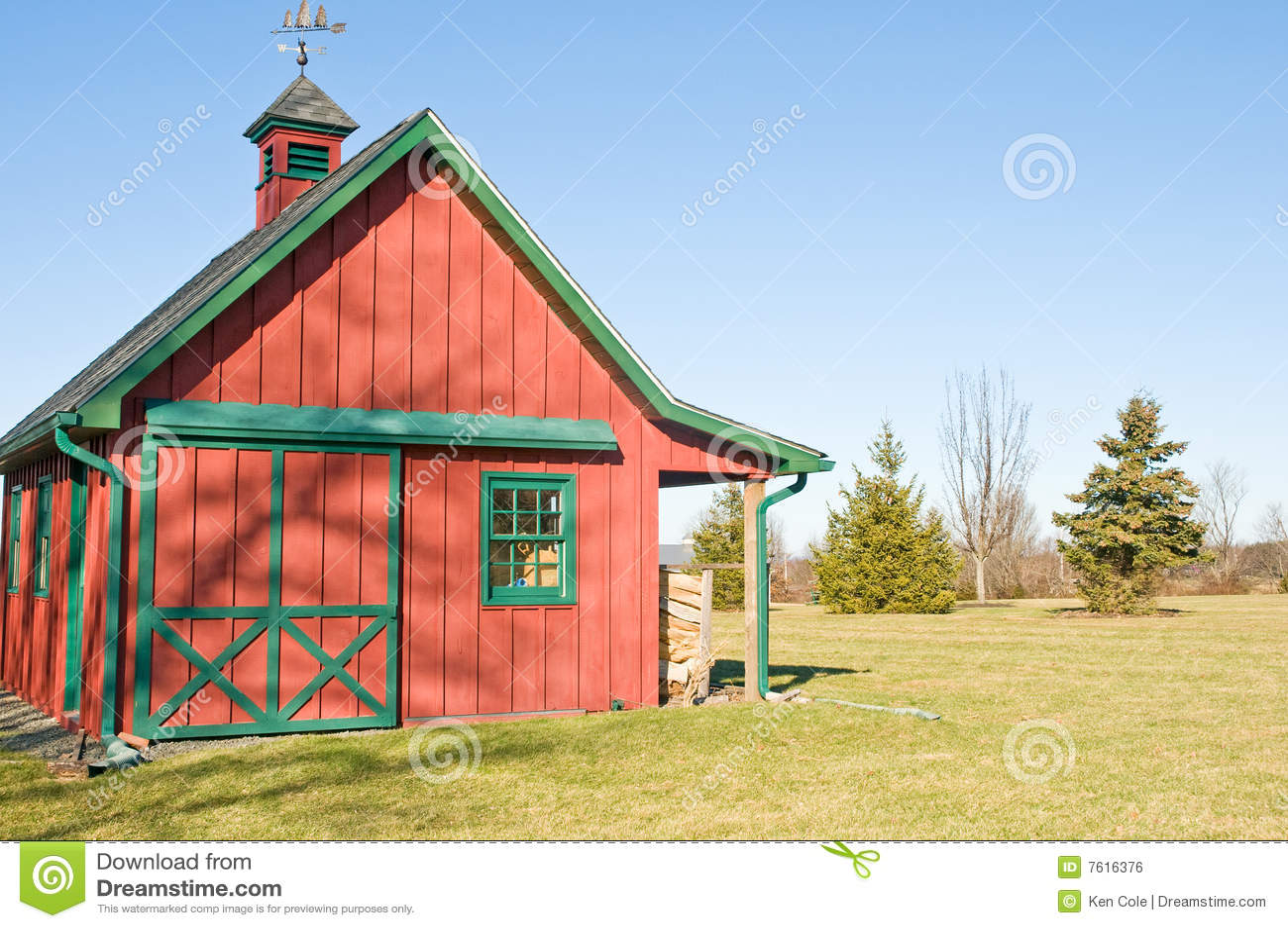 Red Storage Barn Amp Garage Stock Photo Image Of Wood
