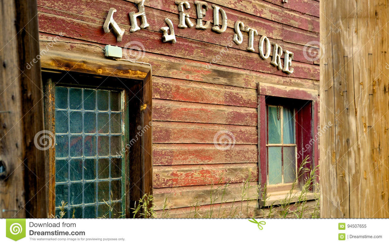The Red Store Editorial Image Image Of Path General 94507655
