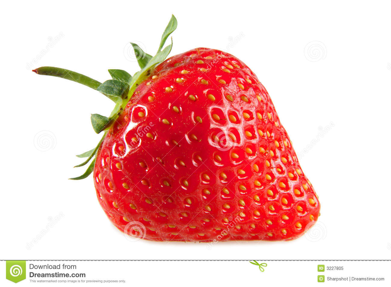 A red strawberry.