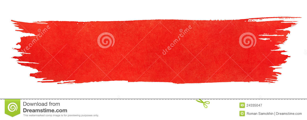 Red Paint brush with red paint stock photo - image: 34638140