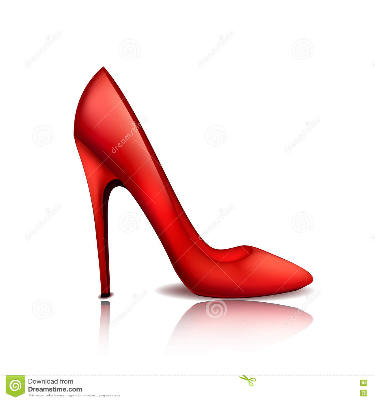 744771f3841 Red Stylish Female Shoe On A High Heel Stock Vector - Illustration ...