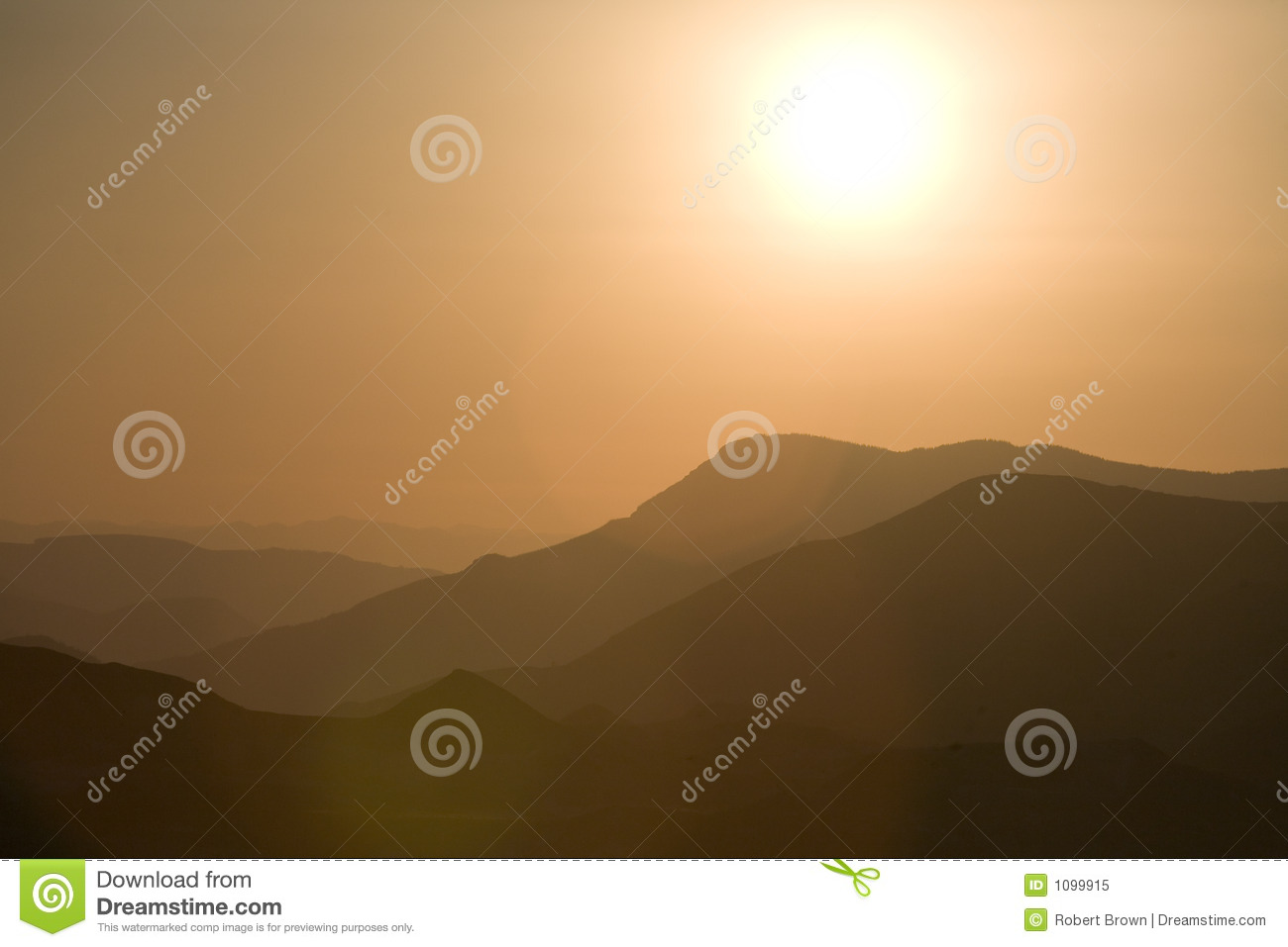 Red Sunset with Lens Flare