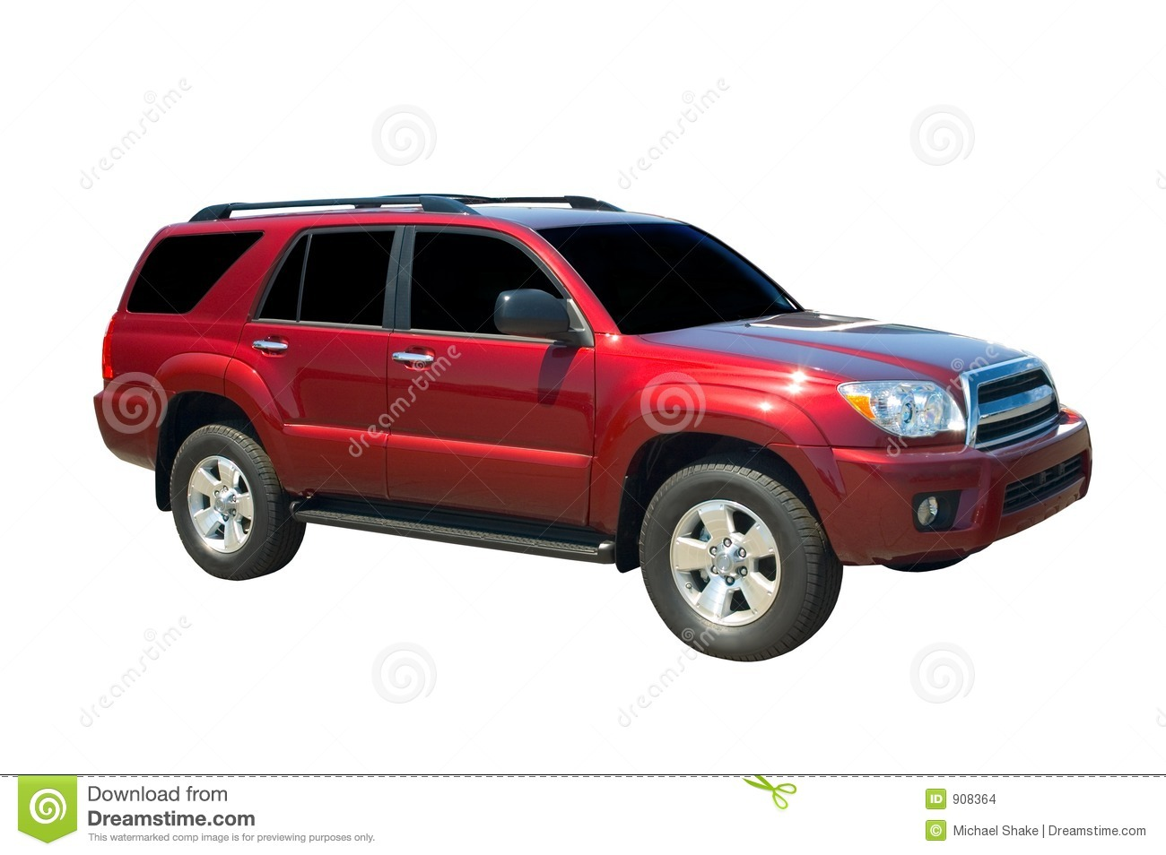 Red Suv Stock Image Image
