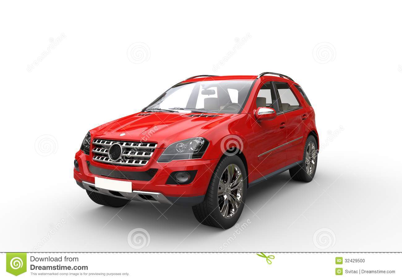 Red Suv Stock Photo Image