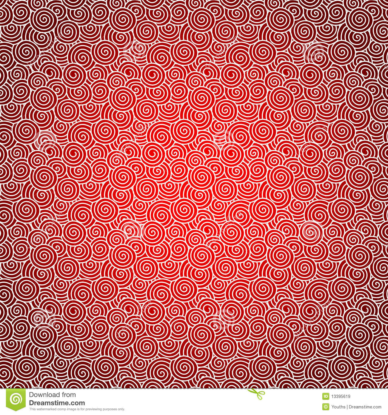Vector Red Swirl Background Textured
