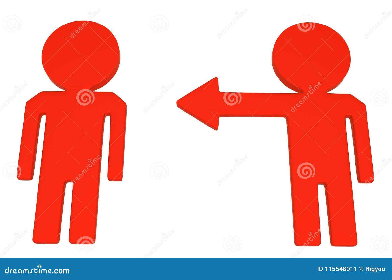 arrow arm figure point stock illustration illustration of direction