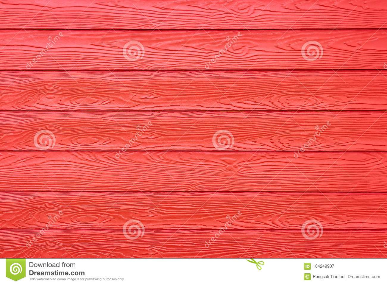 Red synthetic wood texture wall house.