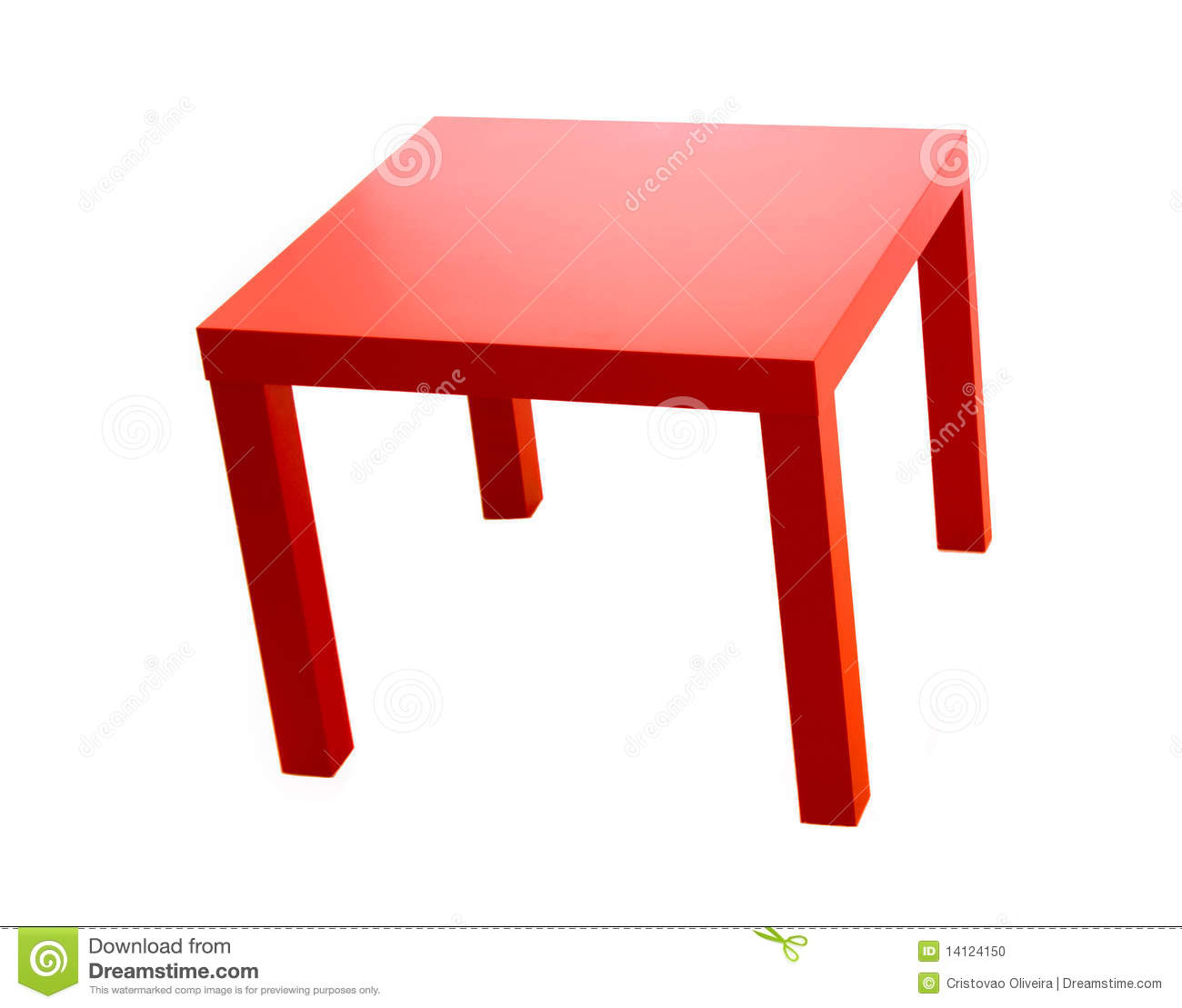 Red Table Stock Photo Image Of Small Cheap Elegance 14124150