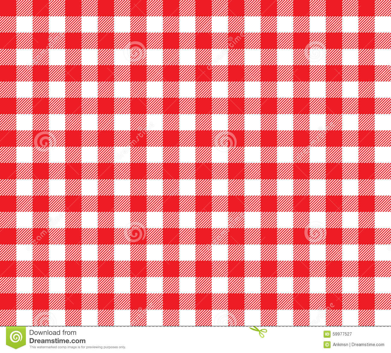 Red Table Cloth Background Seamless Pattern Stock Vector
