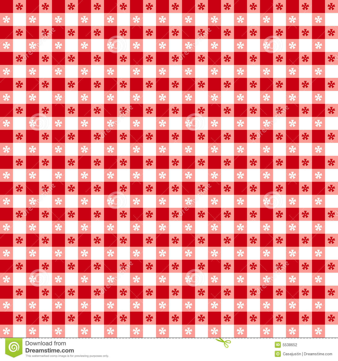 Red Tablecloth Seamless Pattern