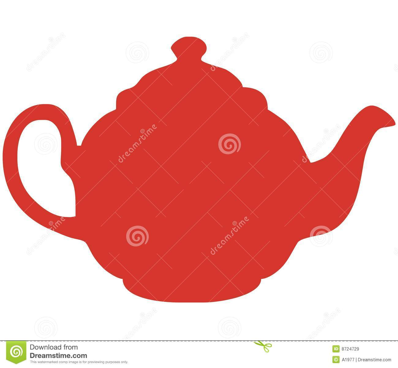 Red Teapot Vector Illustration Stock Vector - Image: 8724729