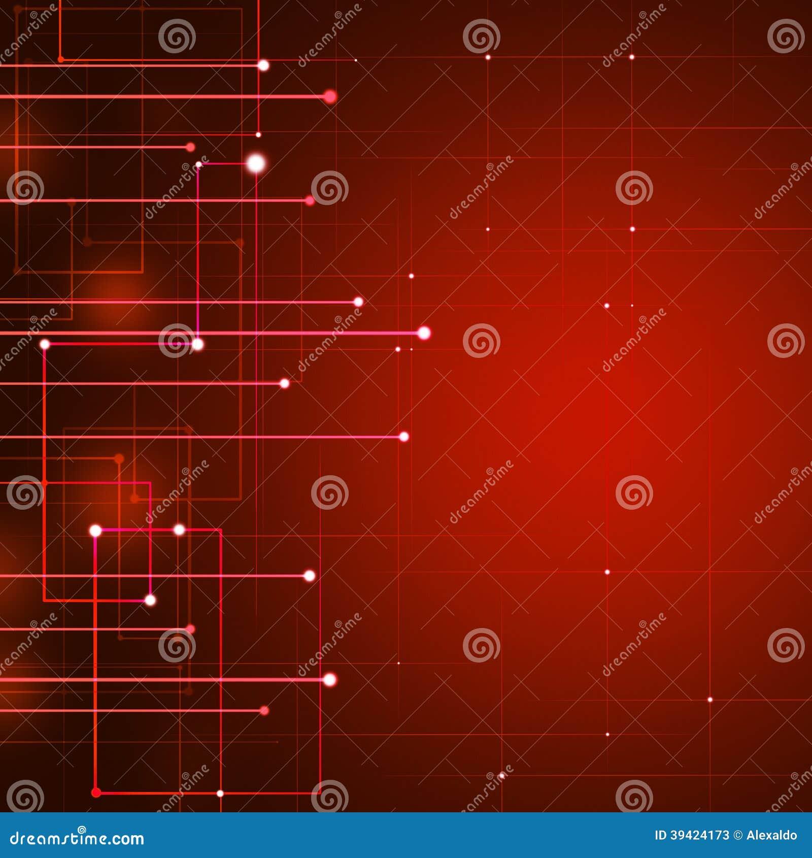 Red Technology Background Stock Illustration - Image: 39424173