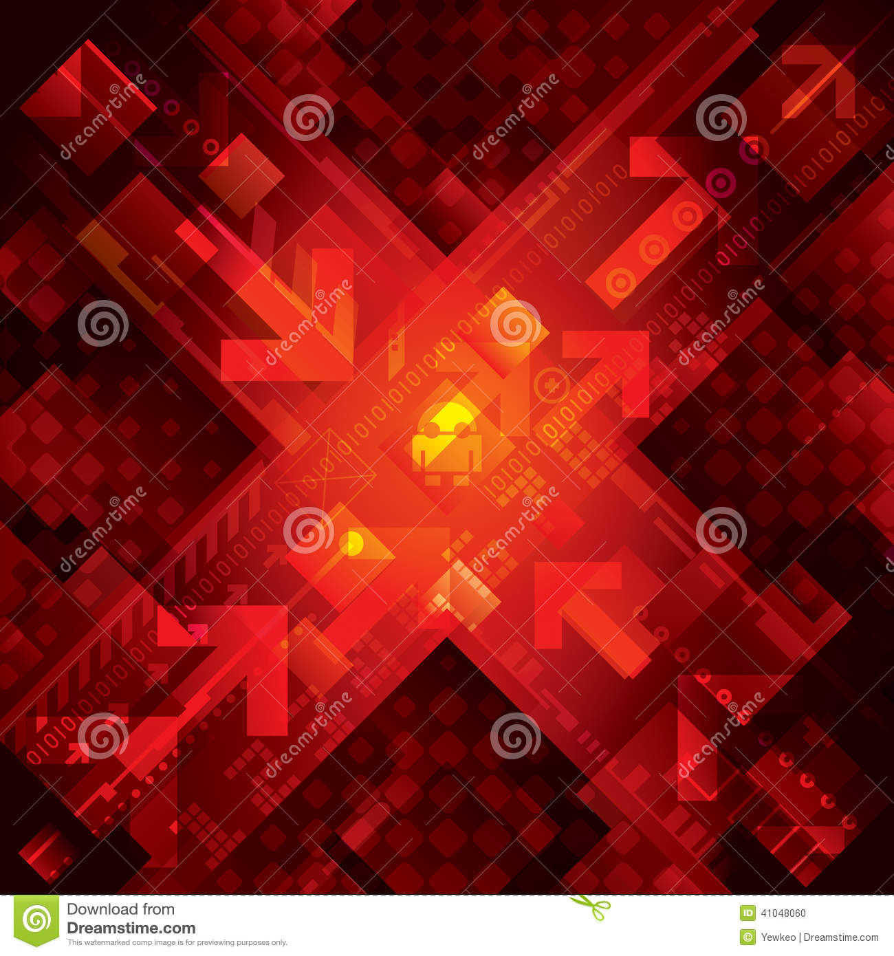 Red Technology Background Stock Vector - Image: 41048060