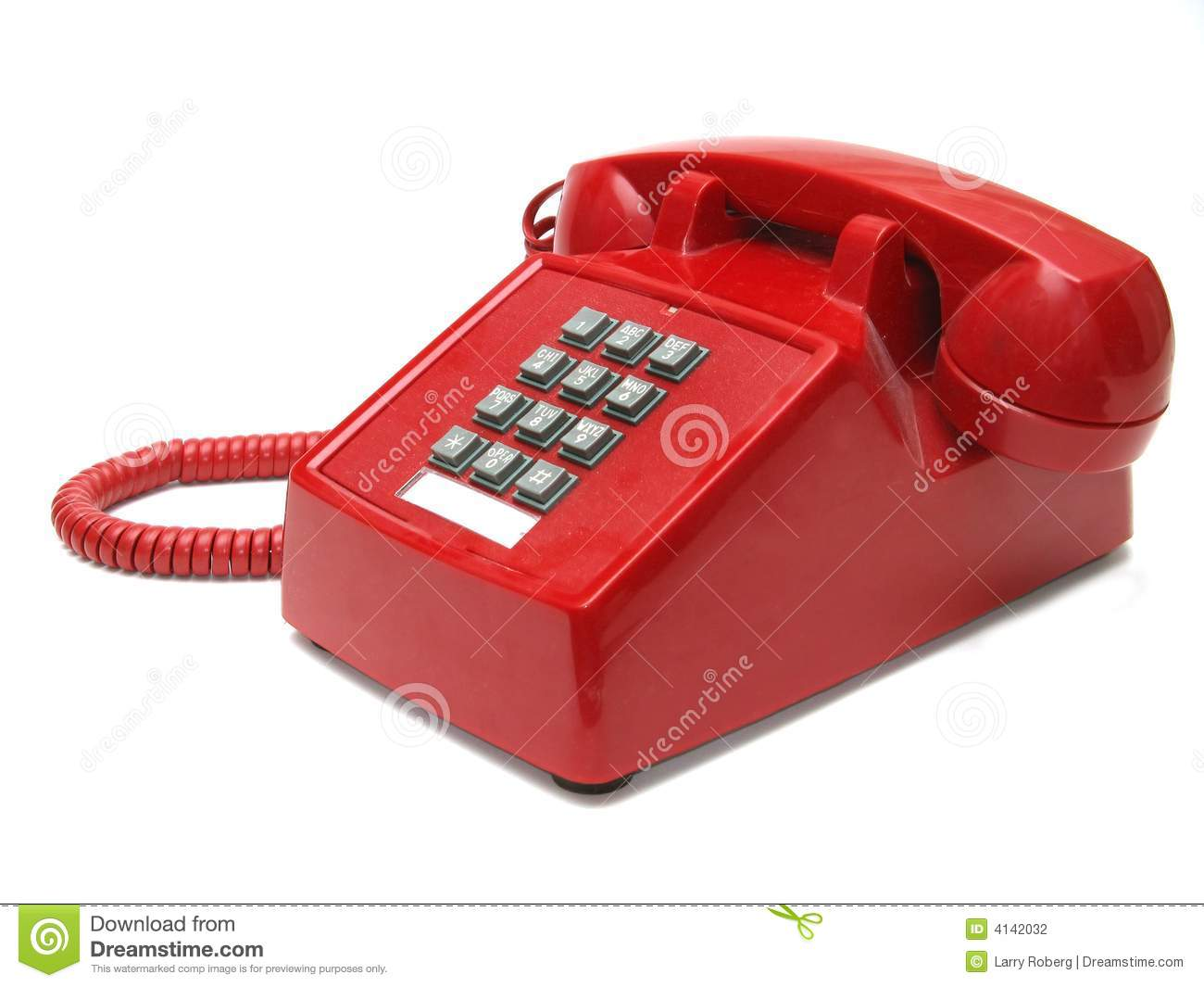 Red Telephone Stock Photography - Image: 4142032