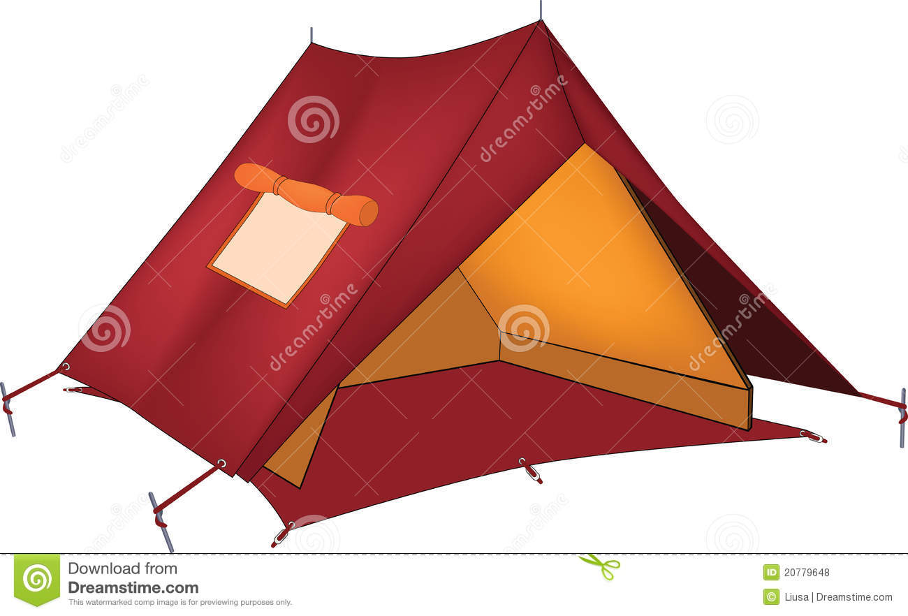 Red tent. Cartoon  sc 1 st  Dreamstime.com & Red tent. Cartoon stock vector. Illustration of journey - 20779648