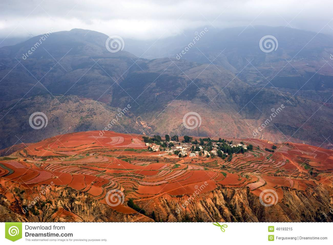 The red terrace of yunnan china stock photo image 46193215 for Terrace landform