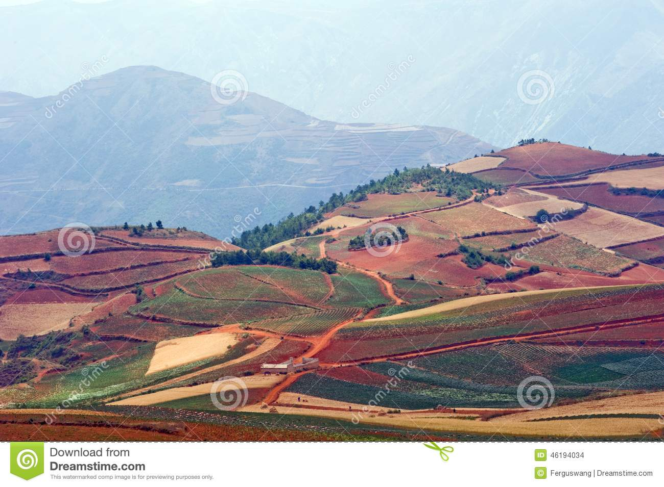 The red terrace of yunnan china stock photo image of for Terrace landform