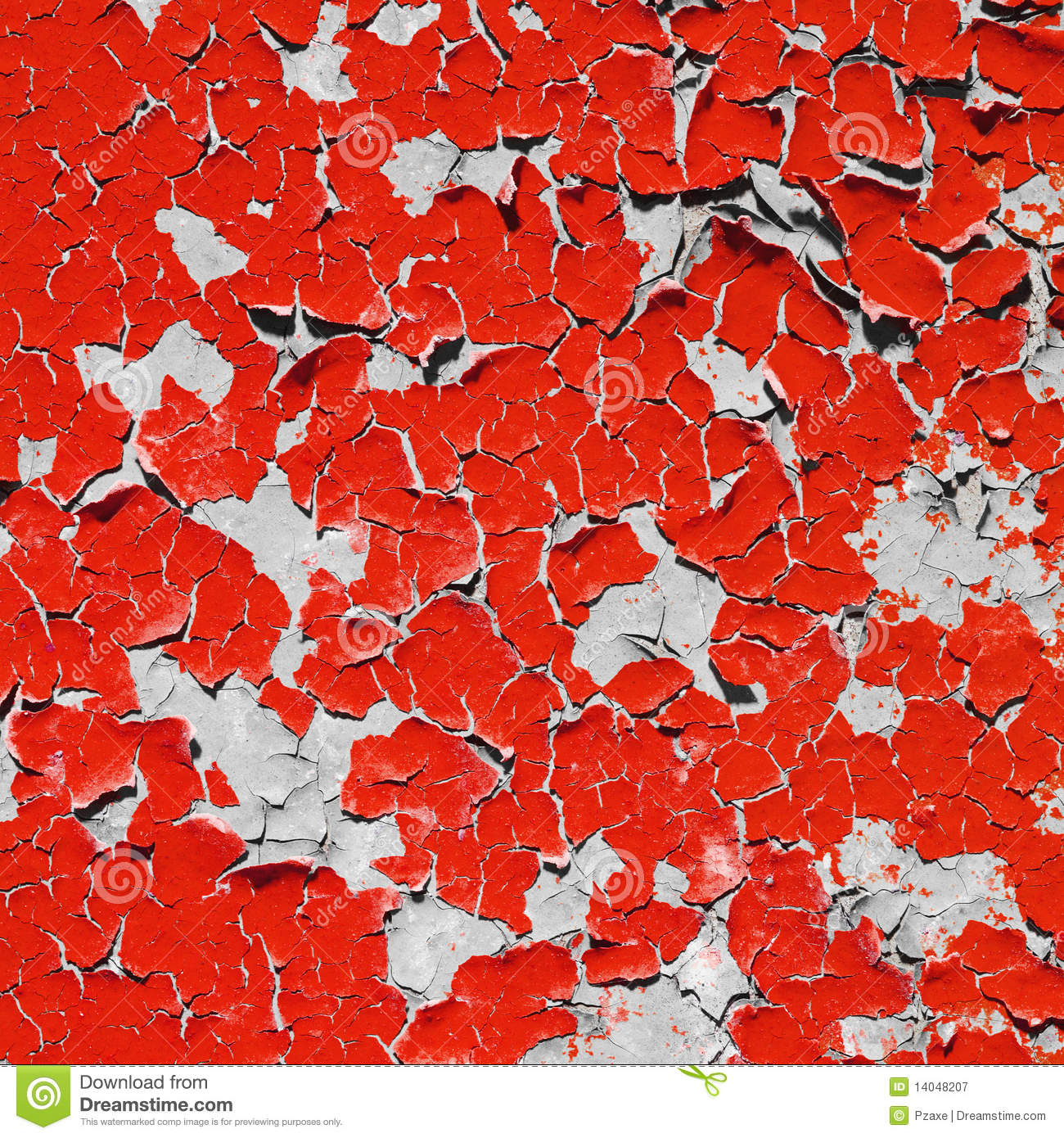 Red Texture Peeling Paint On Wall Royalty Free Stock