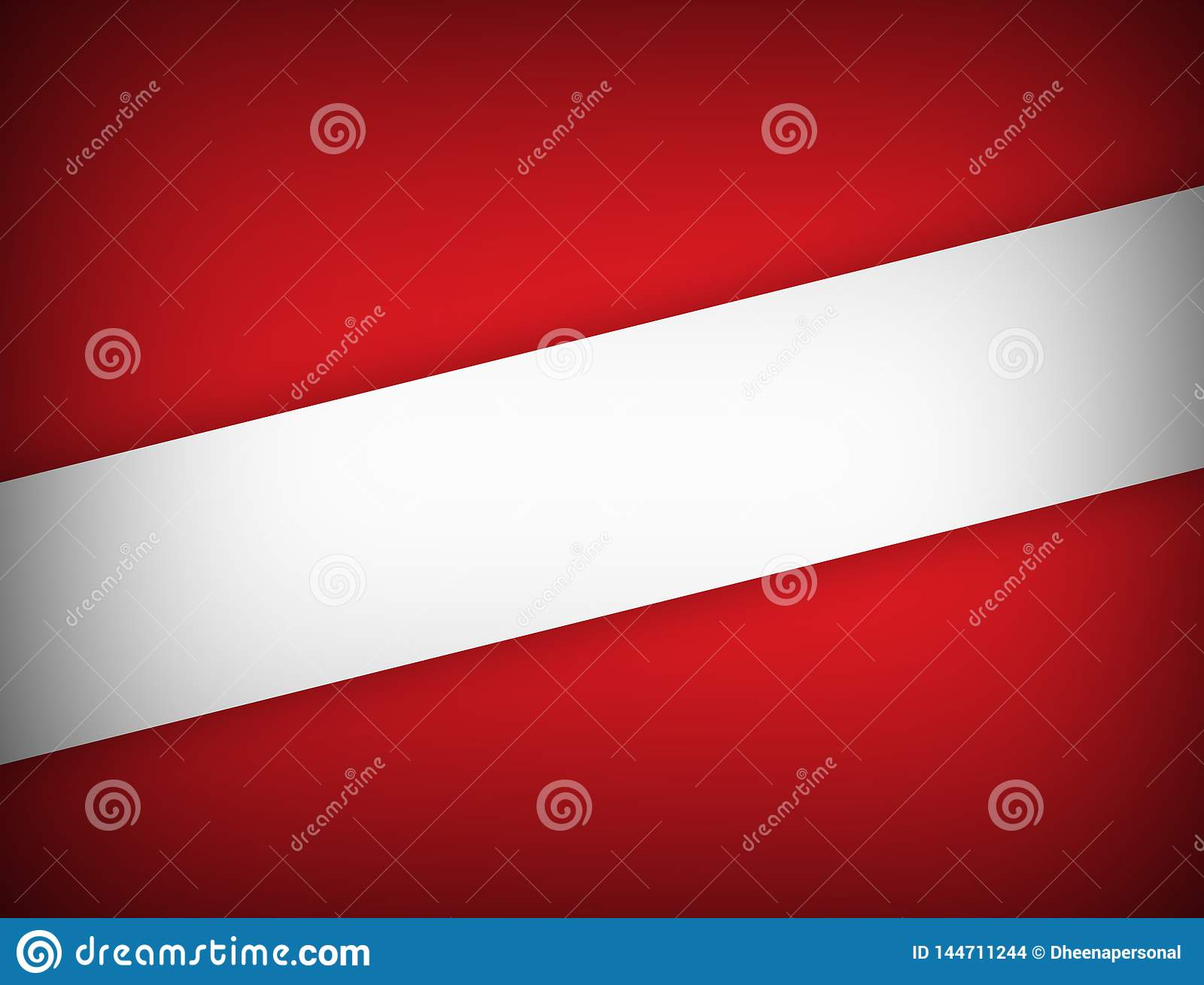 Red and white color geometric abstract background modern design with copy space Vector illustration.