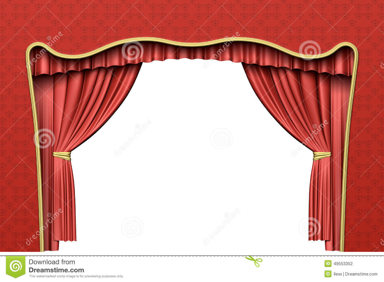 Red theater curtain stock illustration image 49553352