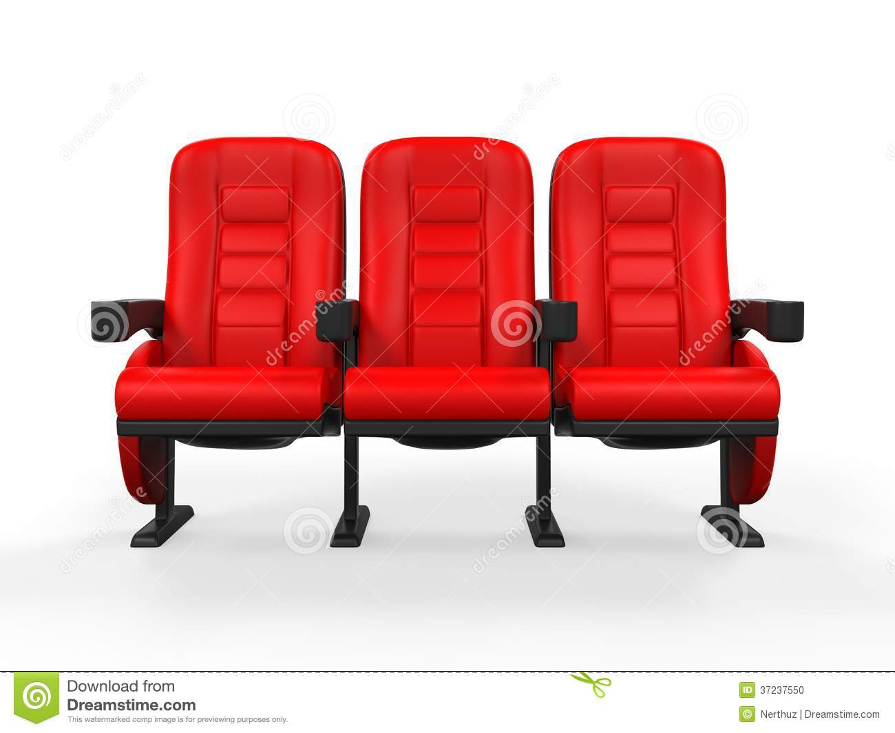 Red Theater Seat stock illustration. Illustration of music ...
