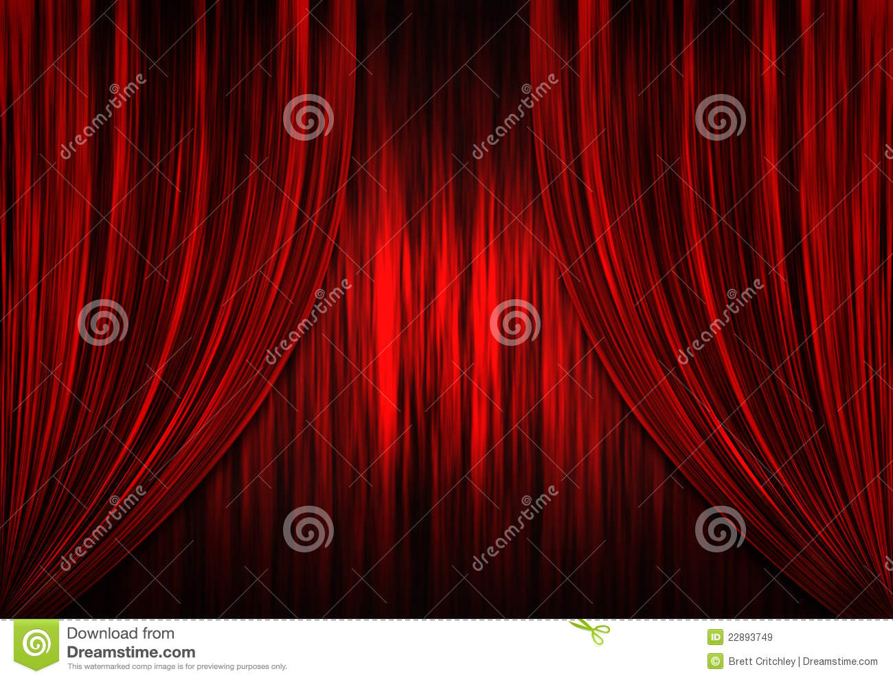 Download Red Theatre Theater Curtains Stock Illustration
