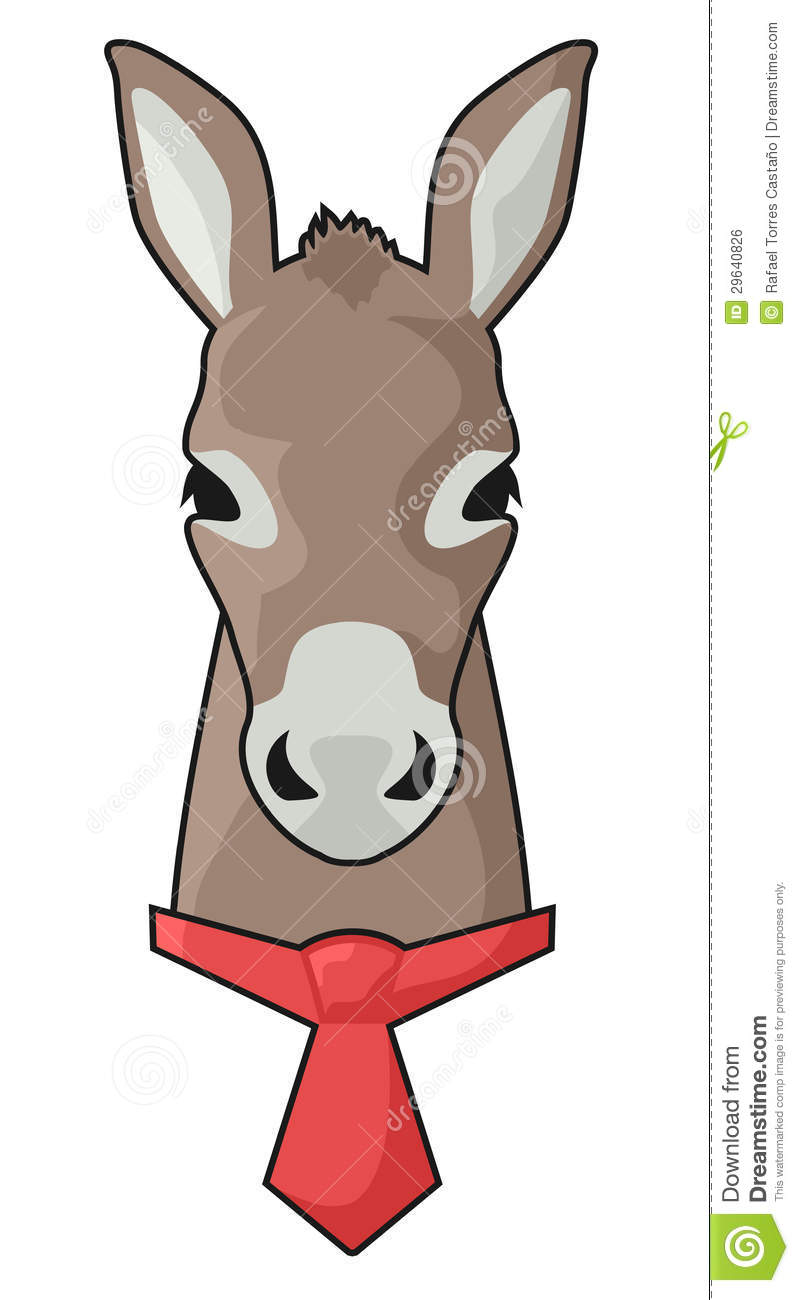 Red tie donkey stock vector. Illustration of illustration - 29640826