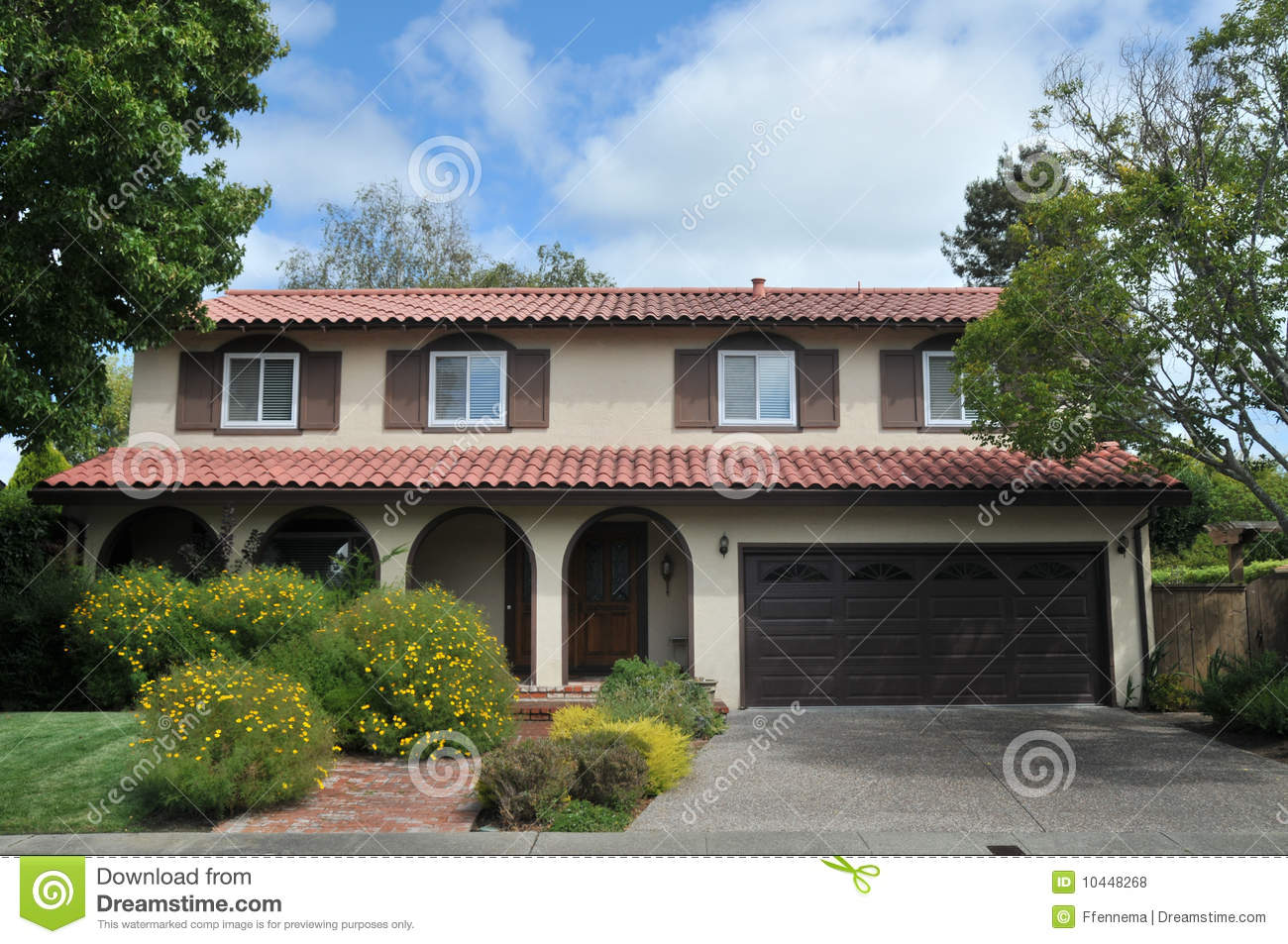 Well-liked Red tile roof house stock photo. Image of middle, nobody - 10448268 AU74