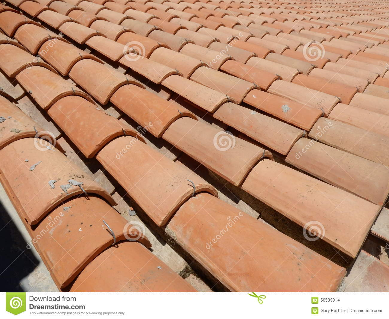 Italian Red Roof Tiles Royalty Free Stock Photography