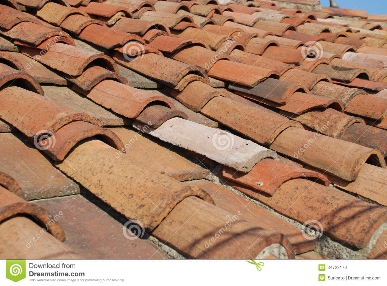 Red Tiles On Roof Stock Photo Image Of House Insurance 34723170