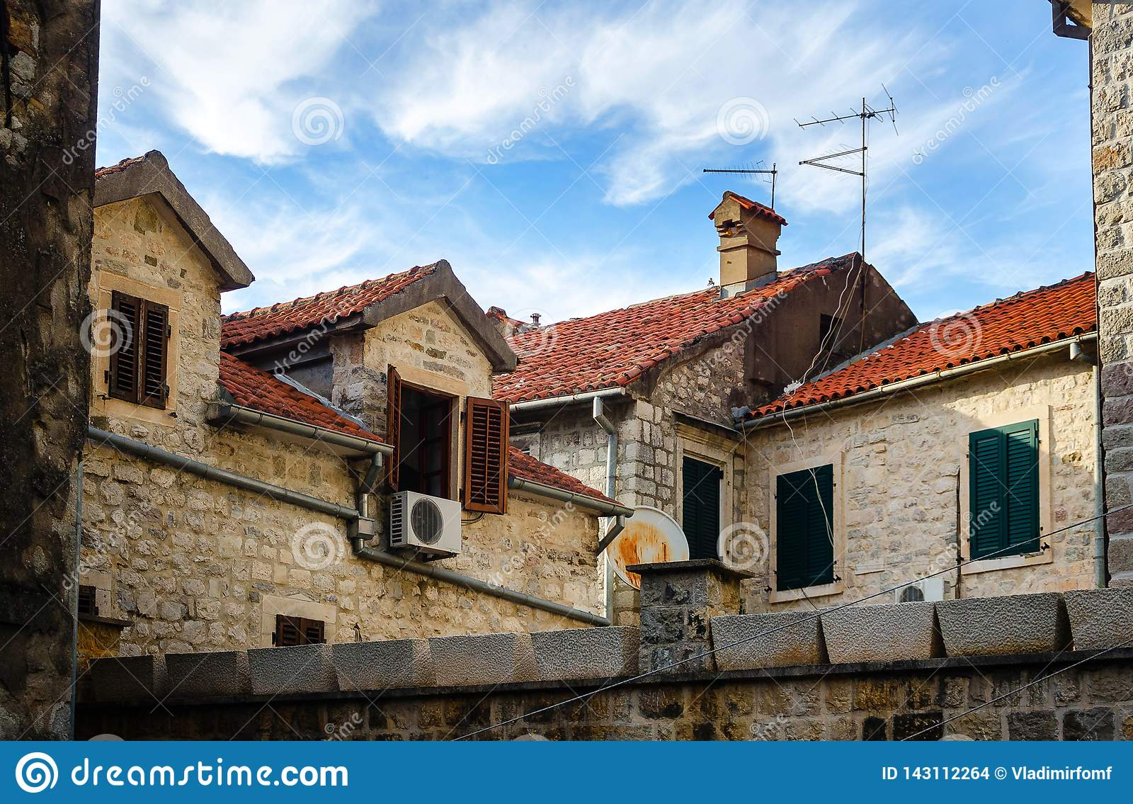 Red tiles roofs of Kotor, Montenegro