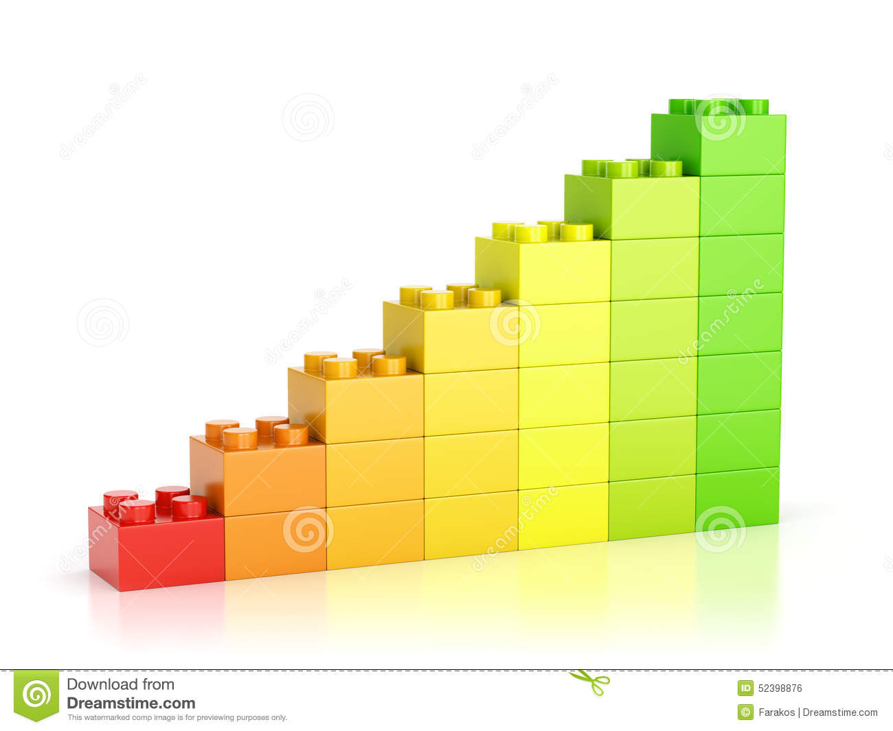 Red To Green Color Growth Diagram Stock Photo Image