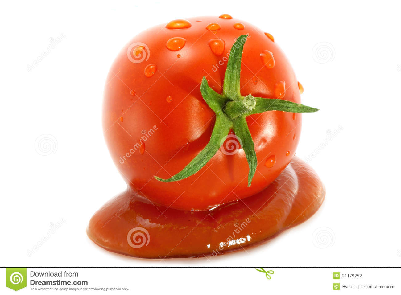 Red tomato in sauce