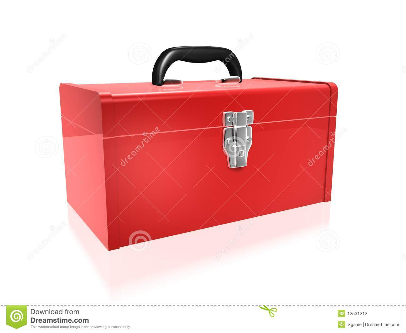 Empty Toolbox Clipart Red Toolbox Stock Phot...