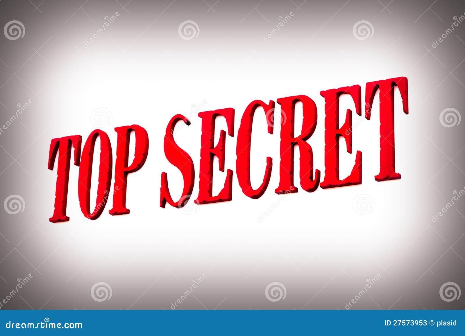 Red Top Secret Sign Stock Photos - Image: 27573953