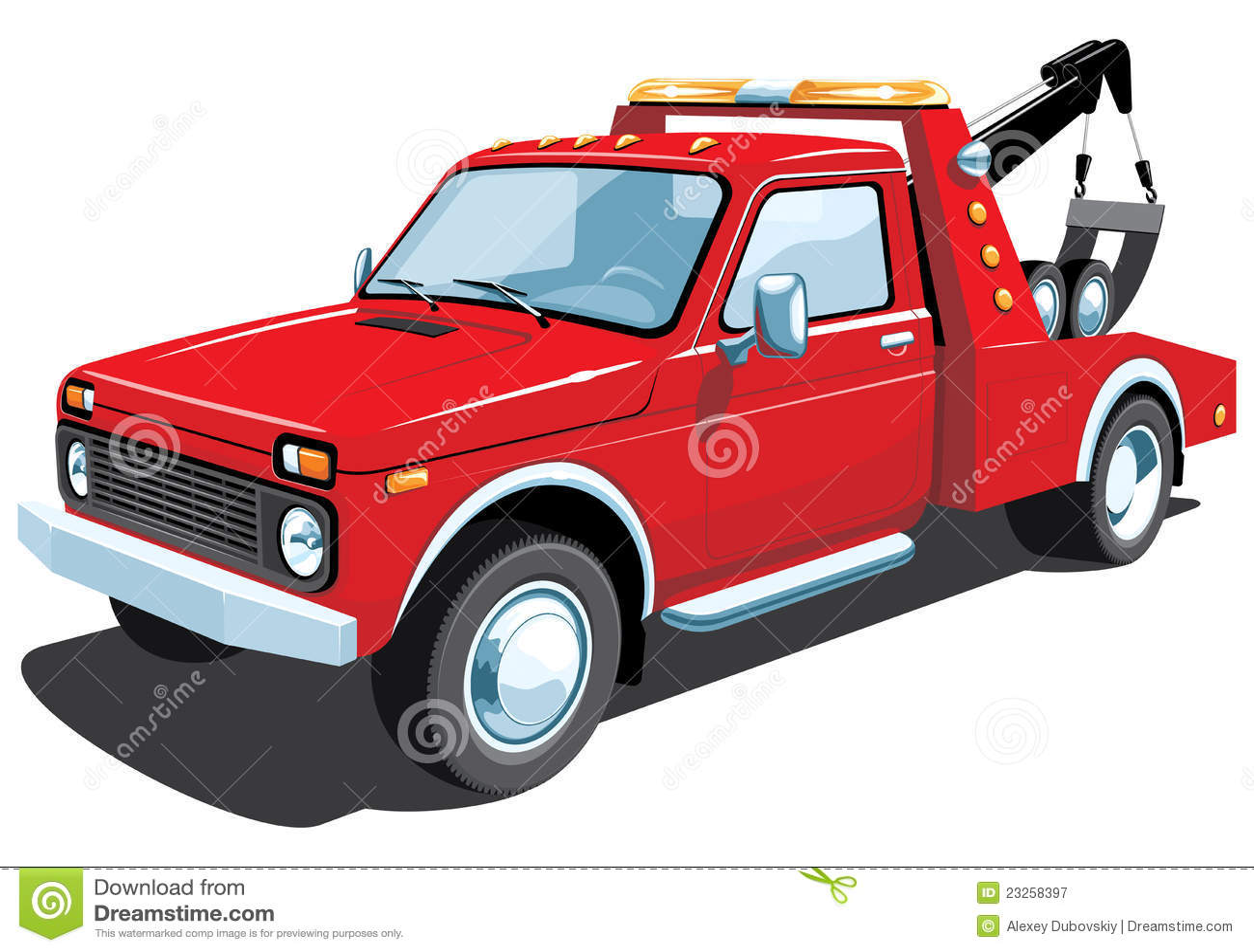 red tow truck stock vector illustration of pick transport 23258397. Black Bedroom Furniture Sets. Home Design Ideas