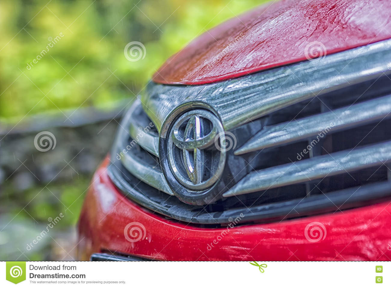 Red Toyota Corolla Motor Vehicle Editorial Photography Image Of