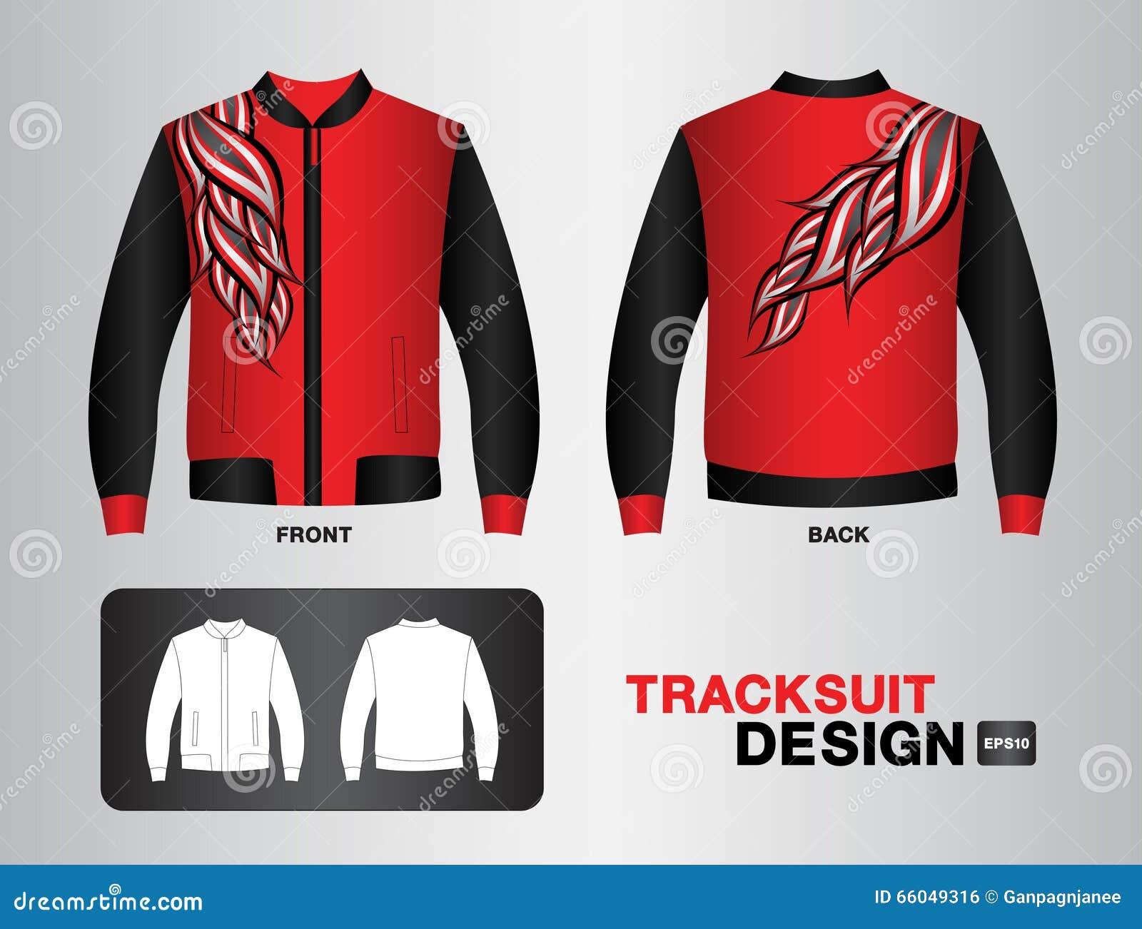 Shirt jacket design - Red Tracksuit Design Jacket Vector Illustration Sport T Shirt Uniform Design