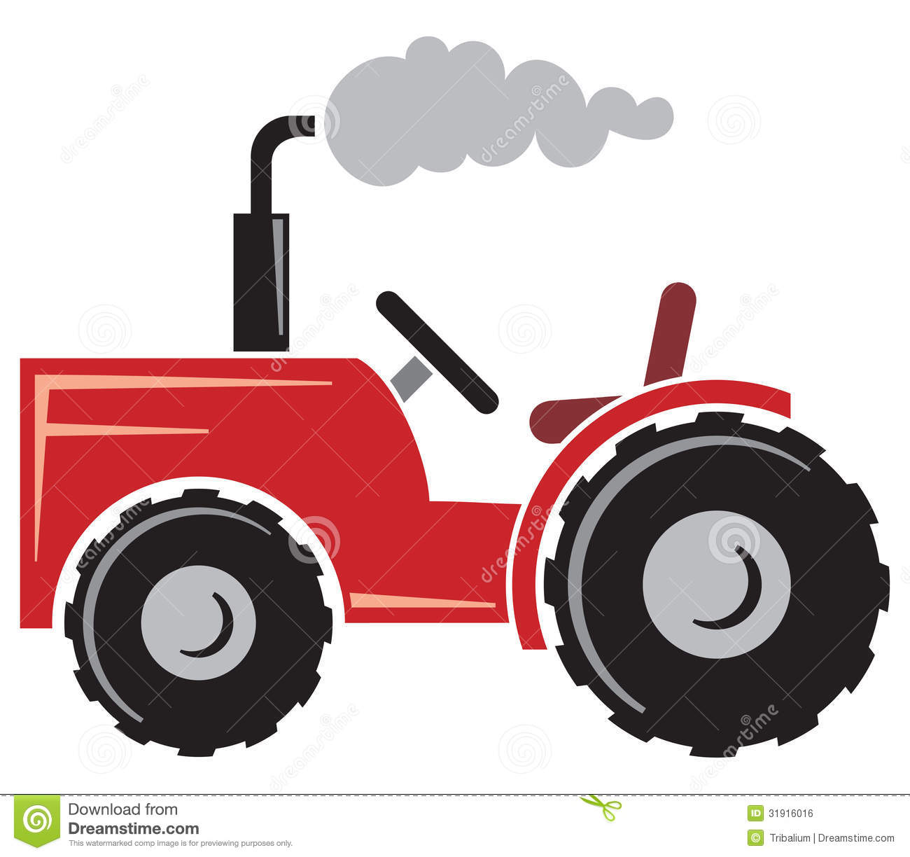 Farm Tractor Clipart Agricultural tractor, tractor