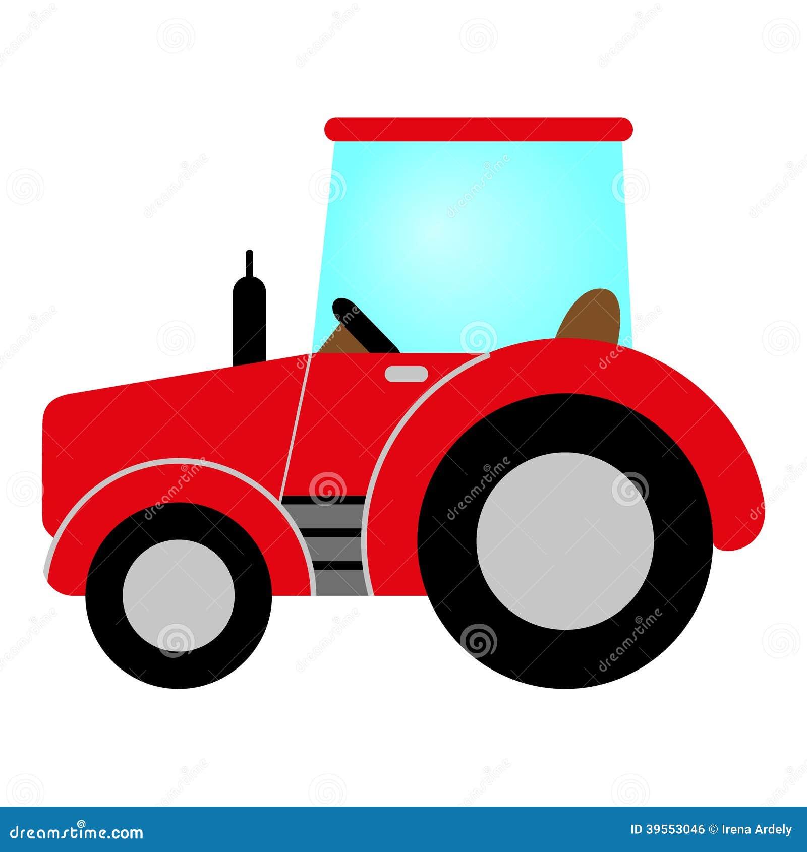 Farm Tractor Wheel Clip Art : Red tractor stock vector image