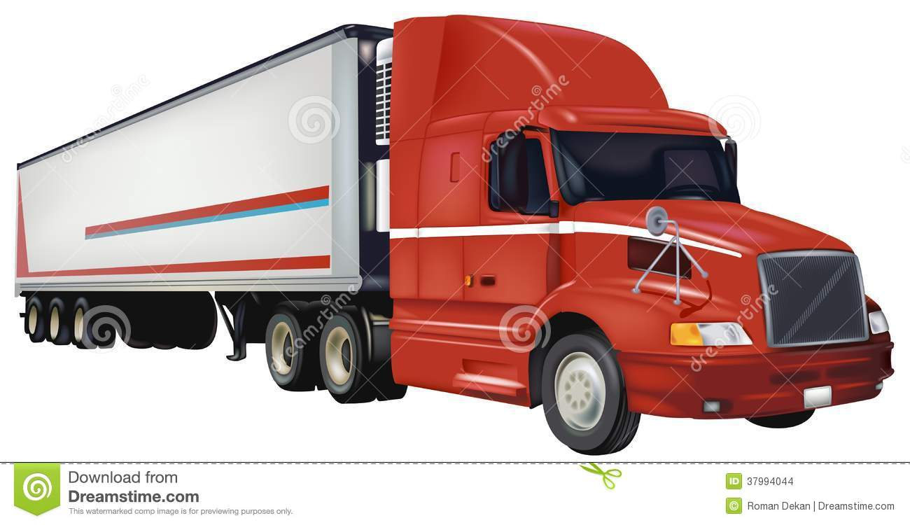 Stock Images Red Trailer Truck Colored Illustration Vector Image37994044 likewise  together with 13139 1973 mack r   600 likewise 12833 1997 peterbilt 379 extended hood heavy lowboy hauler truck as well 6417036019. on peterbilt dump trailers
