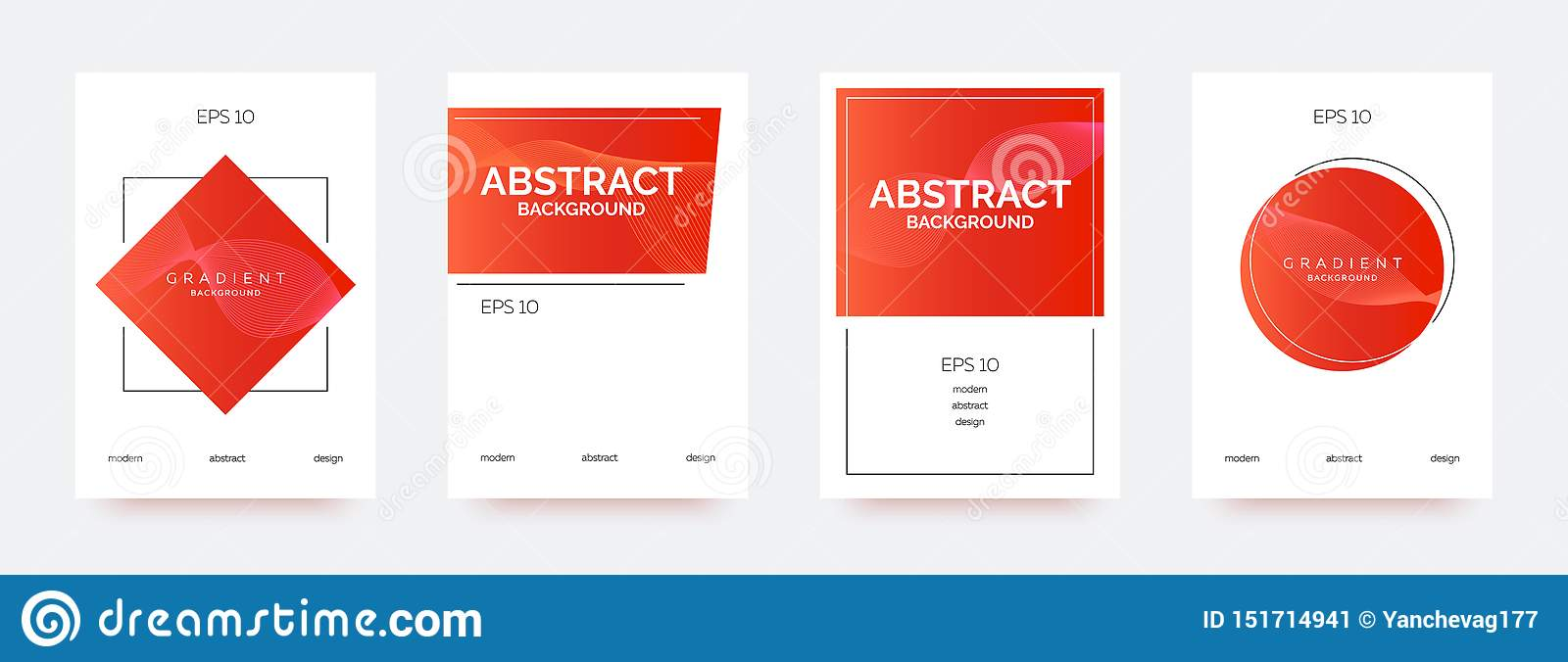 Red trendy banners, brochures, flyers, backgrounds with abstract gradient shapes.