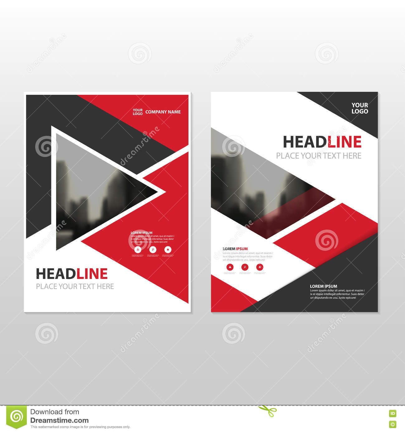 Business Book Cover Vector ~ Business vector brochure template layout cover design