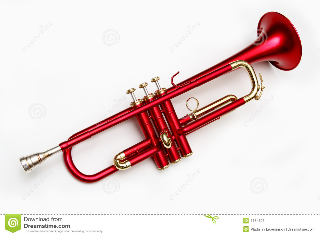 Red Trumpet Royalty Free Stock Image Image 1184606