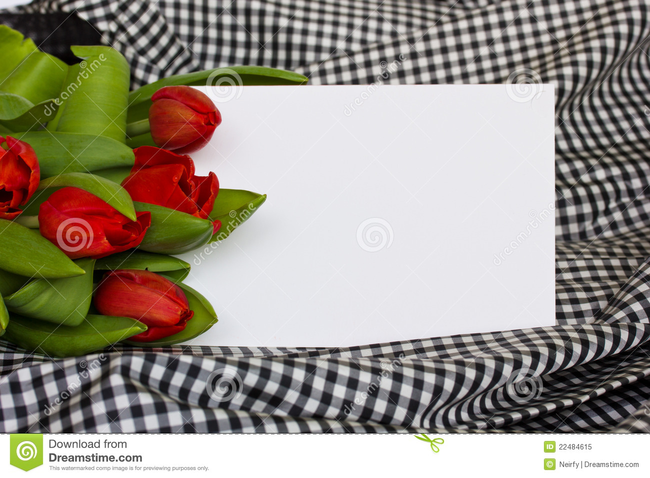 Red Tulips With Blank Invitation Card Royalty Free Photo – Blank Invitation Card