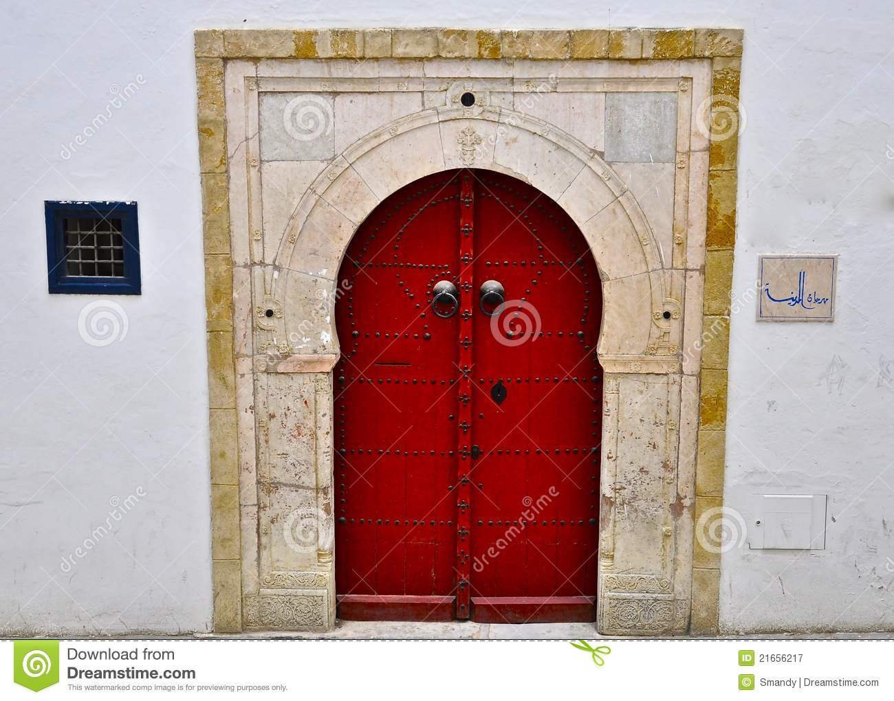 Red Tunisian door special colour & Red Tunisian Door Special Colour Stock Image - Image of erse ...