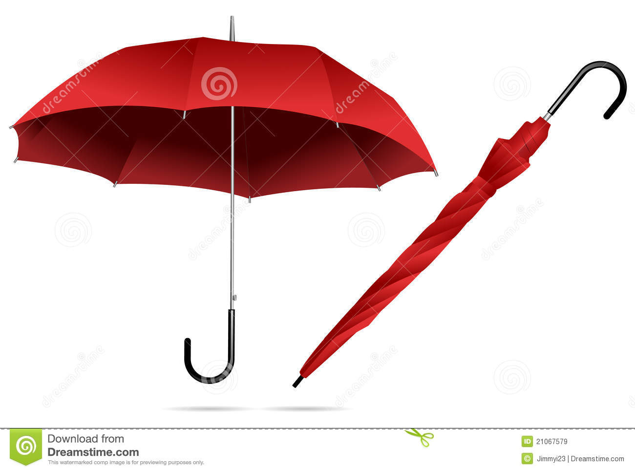 Red Umbrella Royalty Free Stock Images - Image: 21067579