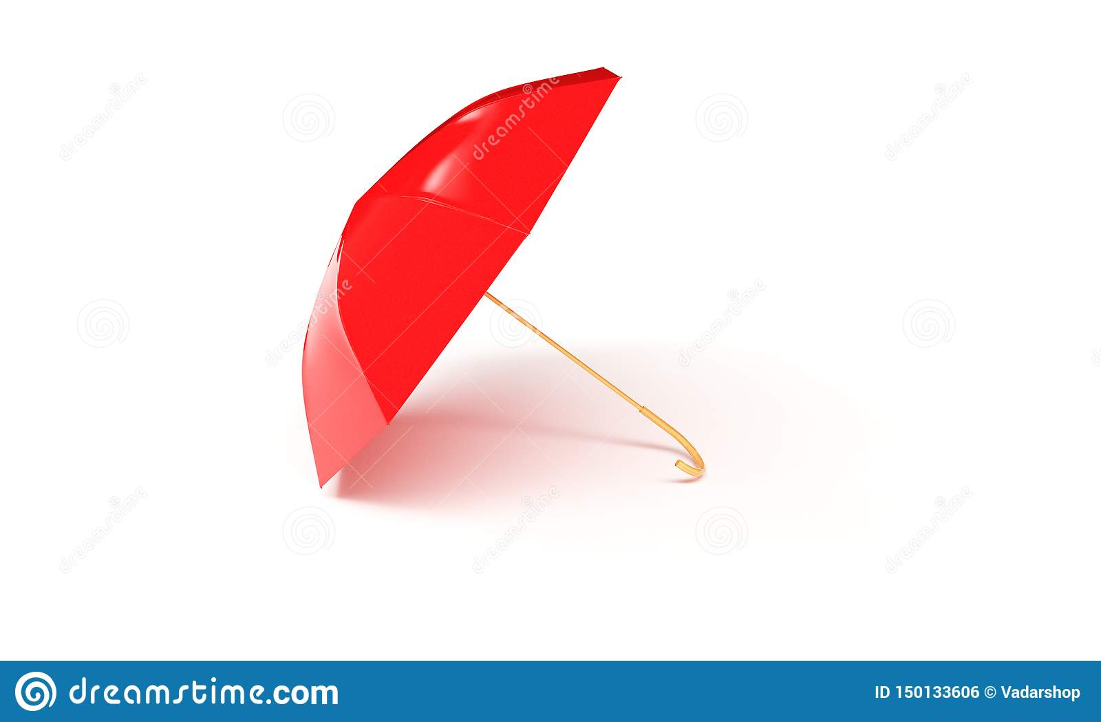 Red umbrella concept rendered isolated 3d render