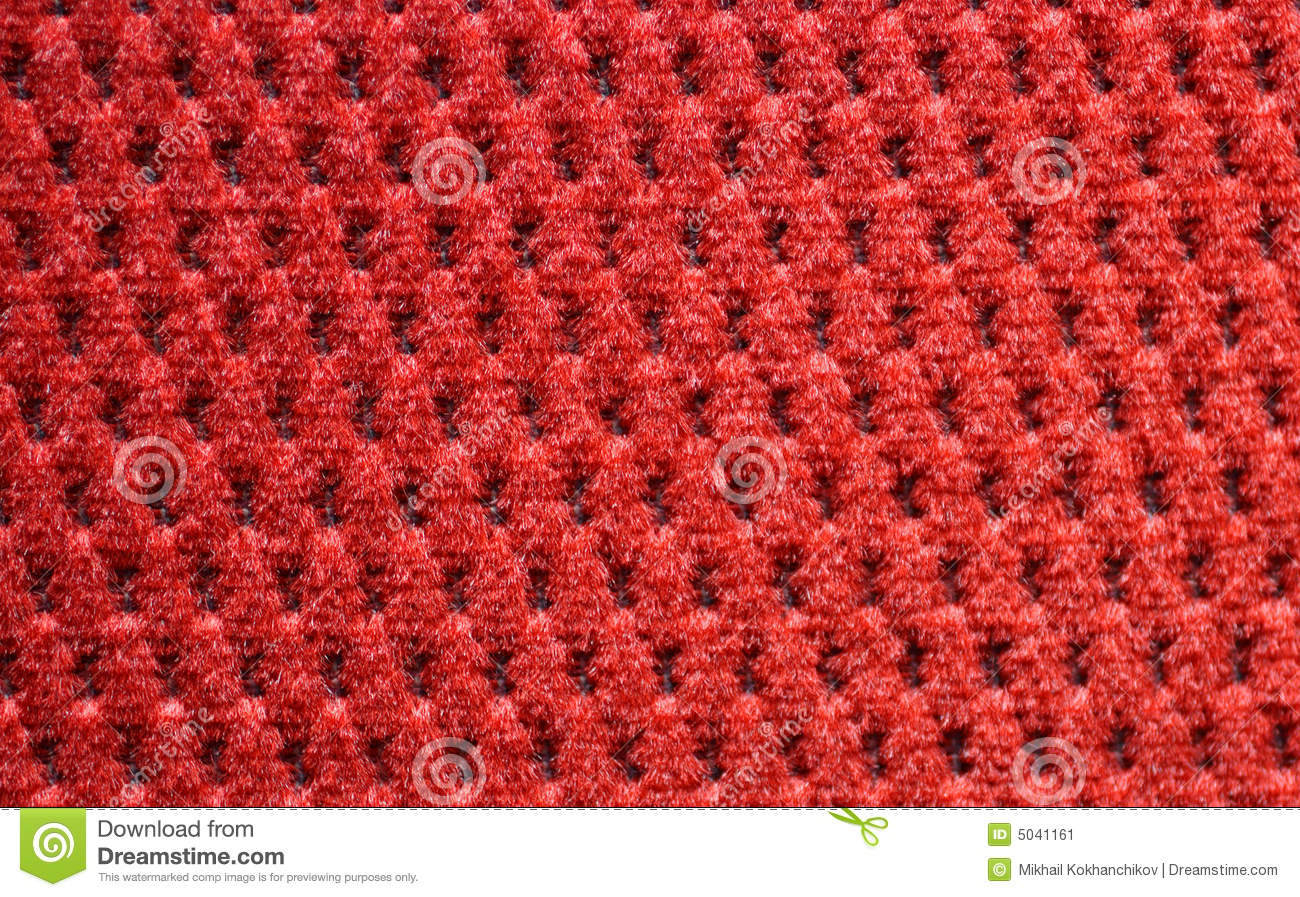 Red Upholster Material Close Up Stock Image Image 5041161